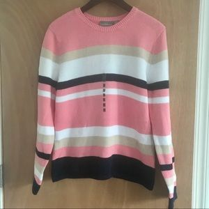 ⭐️3/$25 Croft & Barrow Striped Knit Sweater